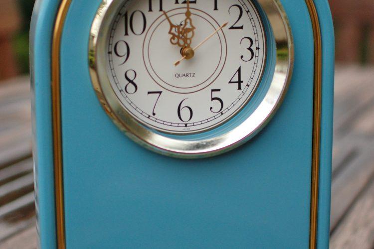 desk clock makeover
