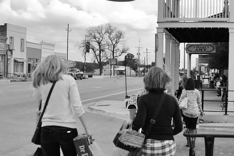 small town USA shopping