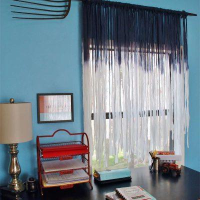 DIY blue sky curtains