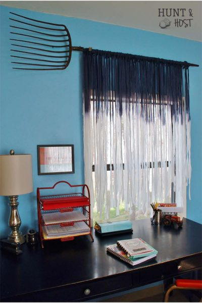 sky blue diy curtains