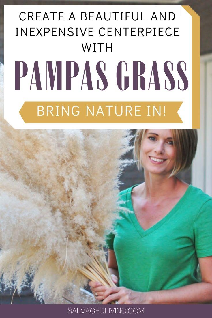 big fluff arrangement with pampas grass
