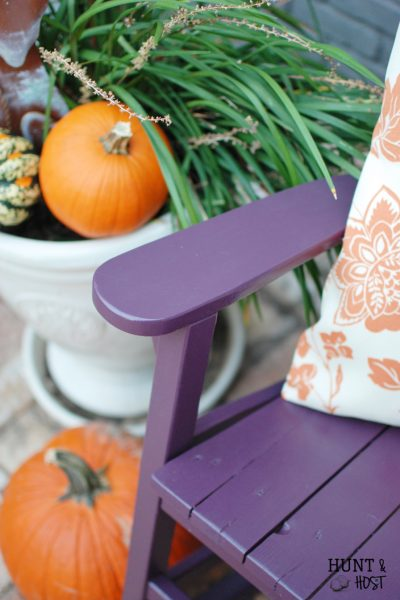 bold color choice Plum paint rockingchair makeover