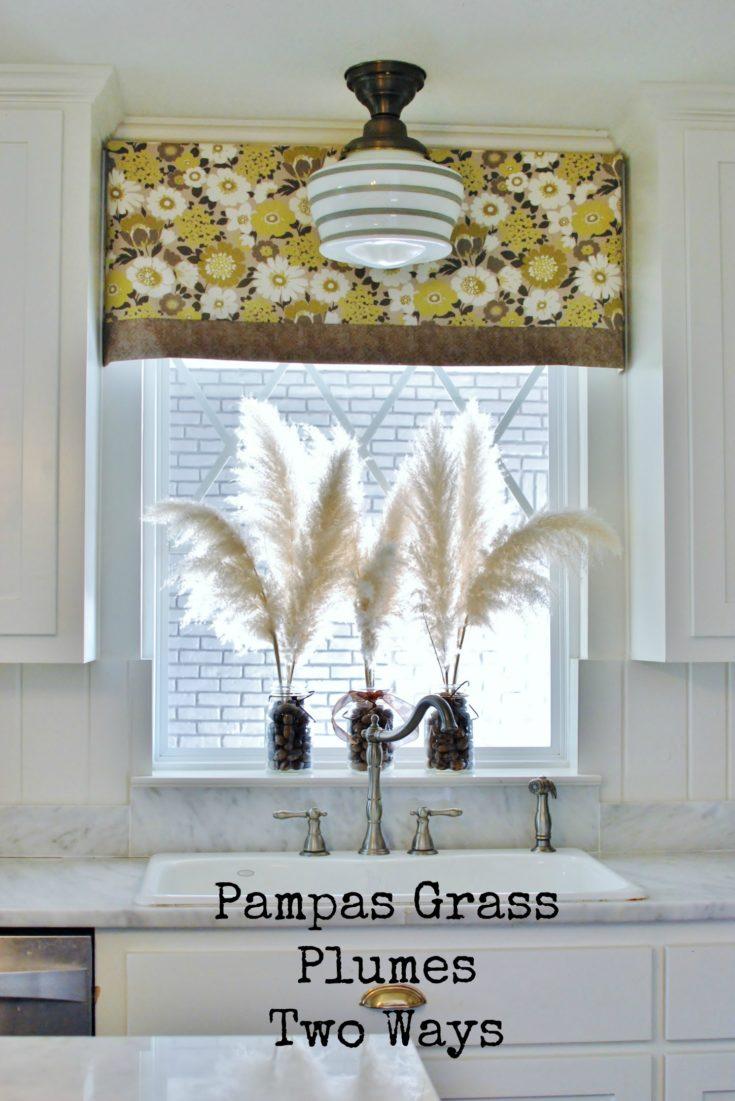 pampas grass plume arrangements two ways huntandhost.net