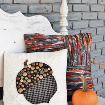 Power In Numbers: Button Acorn Pillow
