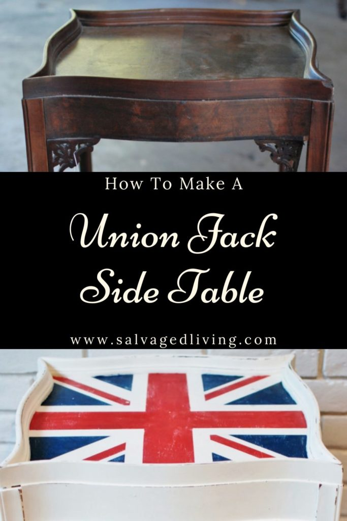 Union Jack Table Makeover