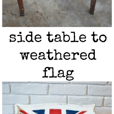 Side Table to English Memory: A Weathered Flag