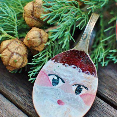 Silver Spoon Santa