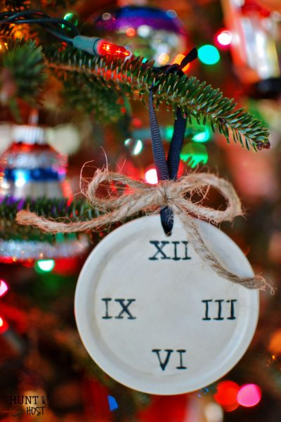 artistic advent ann voskamp clock face ornament huntandhost.net