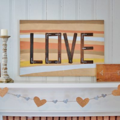 Love Like Paint: Mixed Metal Valentine