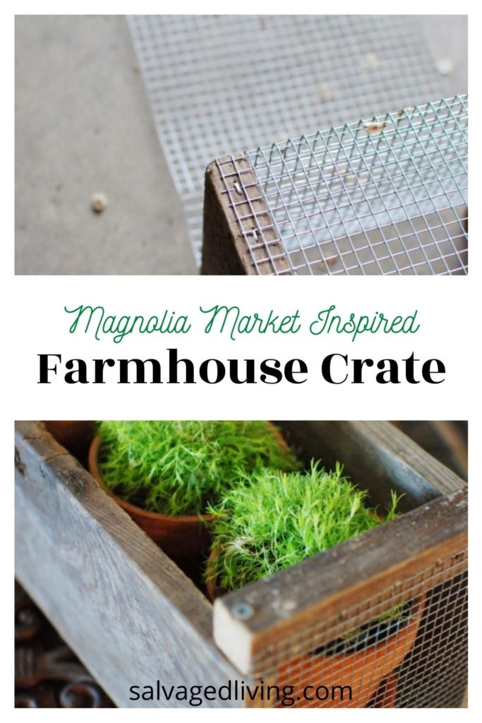 diy farmhouse crate before and after