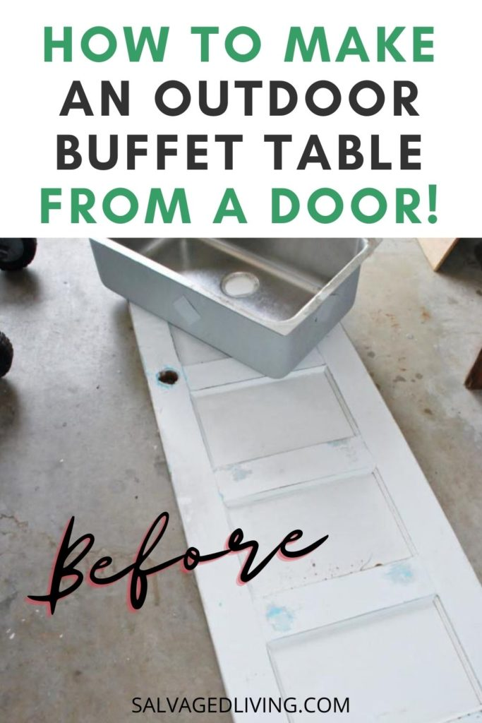 diy outdoor party buffet table