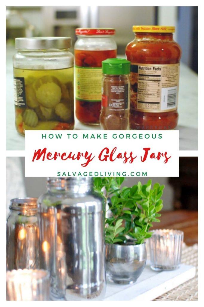 Mercury Glass Jars