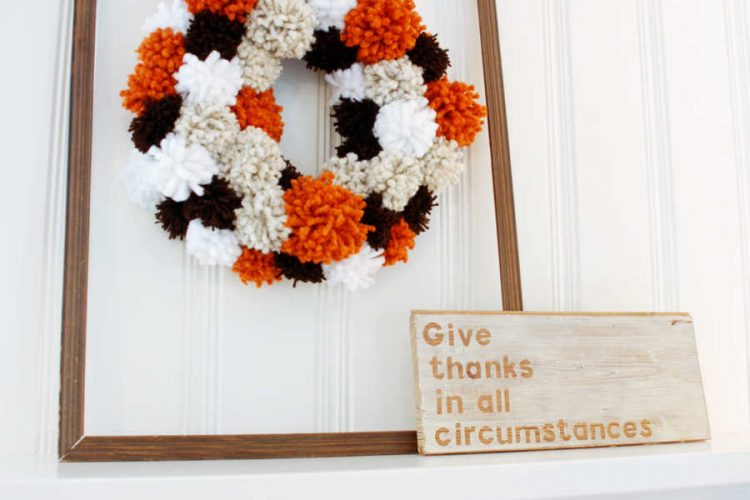 Pom Pom Wreath For Fall