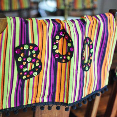 Halloween Chair Covers: Bootiful Halloween Idea