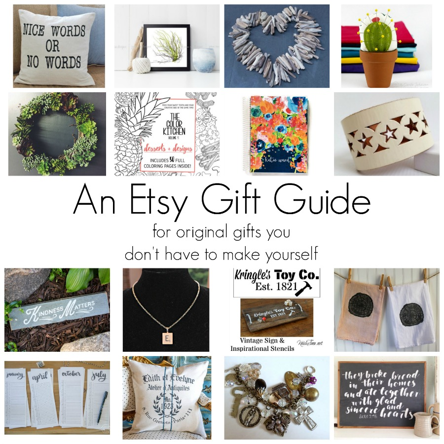 When you want to give a one of a kind gift you don't have to make: An Etsy Gift Guide