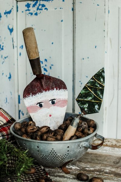 Old tools are transformed into precious Christmas decorations! See an old tool Santa and Christmas Tree come to life!