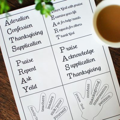 6 Prayer Models to Spice Up Your Prayer Time PLUS a Free Printable