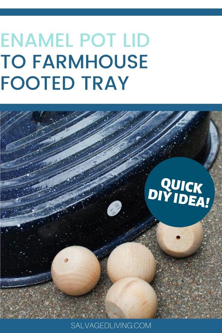 diy farmhouse footed tray