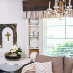 Make inexpensive custom curtains from old wood and dropcloth. Dropcloth curtains are soft and casual, rich wood is the finishing touch. Easy DIY curtain tutorial.