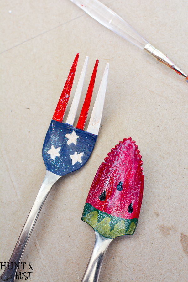 4th Of July Craft Ideas Painted Fork Flag 7 Salvaged Living