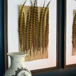 DIY Pheasant feather art tutorial. This easy DIY art tutorial will provide you with elegant artwork for your home with a budget friendly price!