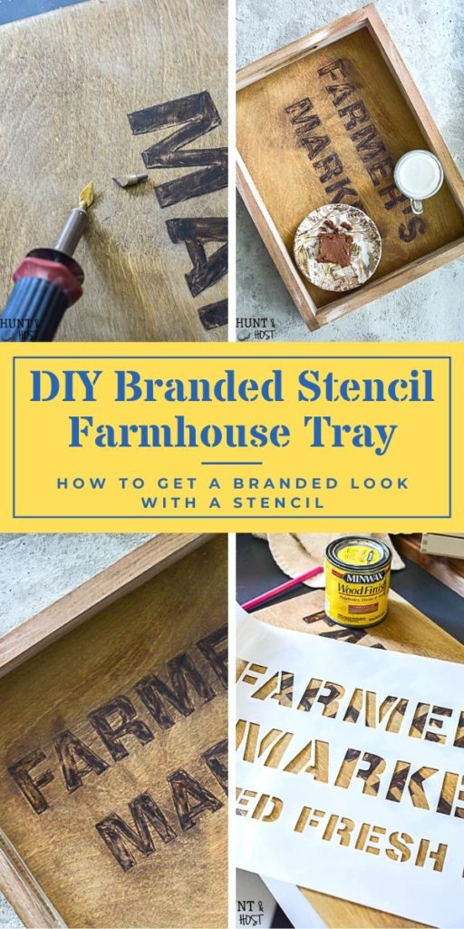 Try this stencil technique, use a stencil as a pattern to brand your DIY sign, box or other wooden crafts with precision. Such a beautiful aged look to try on your wood craft projects and use your stencils in a new way. #stenciltips #woodburning #woodcraft