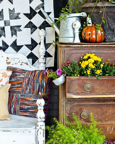 No Sew Porch Quilt DIY