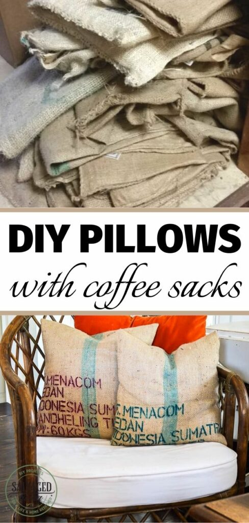 coffee bean sacks and pillows