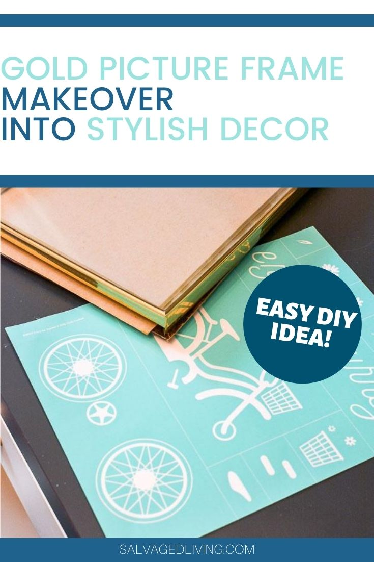 gold picture frame makeover