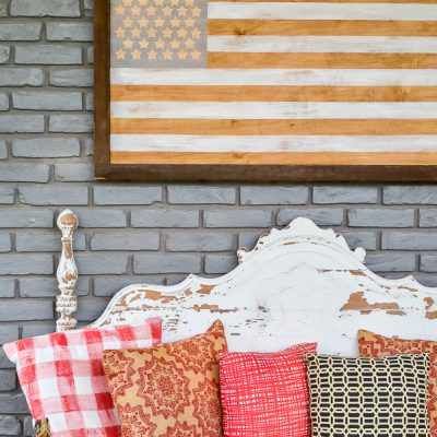 Neutral American Flag DIY Art