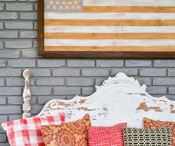 How To Make A Neutral American Flag DIY Art