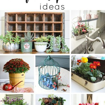 25 Charming Thrifted Planter Ideas