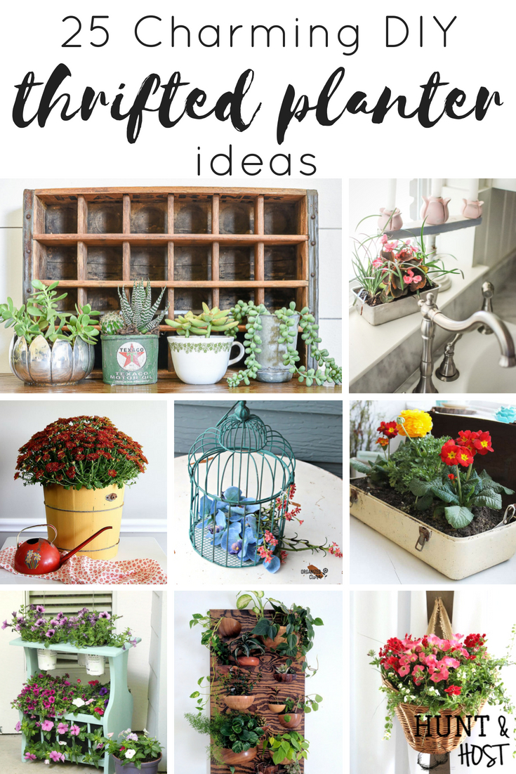 25 Charming Thrifted Planter Ideas Salvaged Living