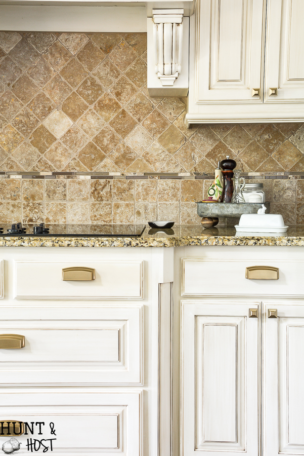 Glam French Country Kitchen Hardware Selection And