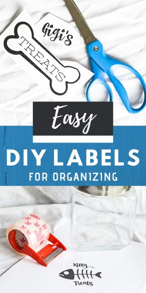 Create easy DIY labels for organizing with this DIY hack that is budget friendly, you can organize your pantry like a pro now! Use this super cool label making trick to organize your craft room, closet, refrigerator, pantry or office. #labelmaker #organizinghack #treatjar #graphicfont