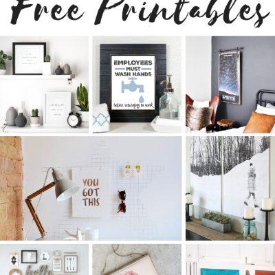 20 Gorgeous Ways to Display Free Printables