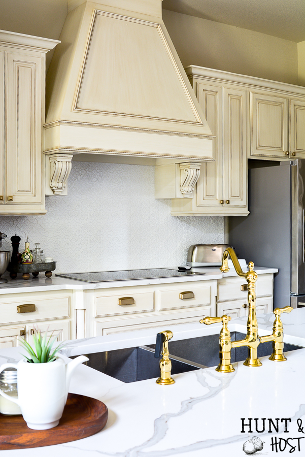 Gold Kitchen Faucet French Country Kitchen Salvaged Living