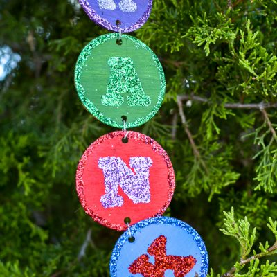 Personalized Name Christmas Ornament DIY