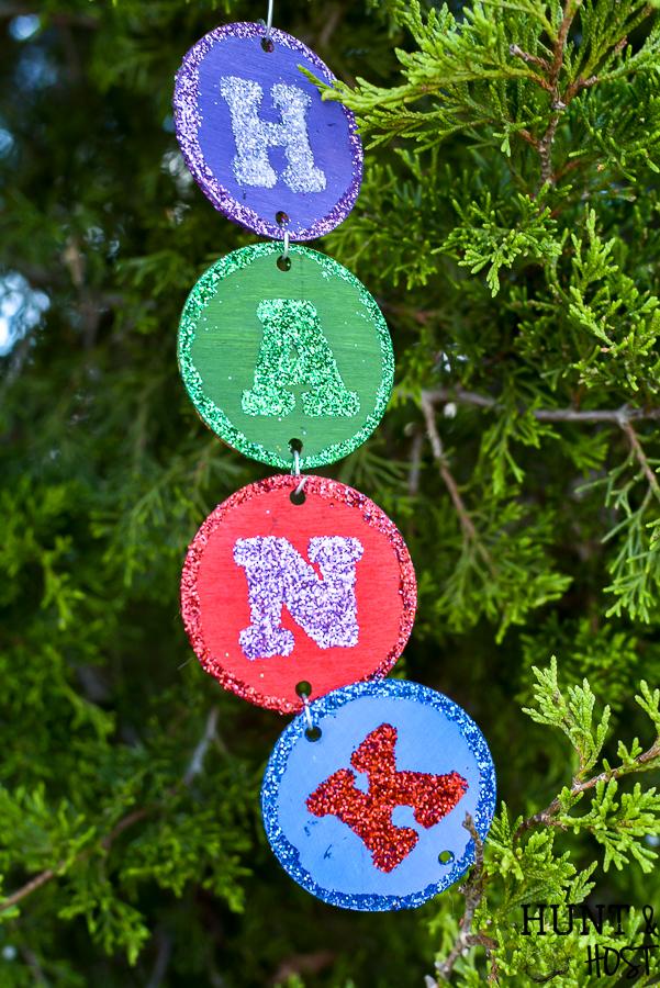 farmhouse kid name   neutral Christmas decor  custom ornament wooden ornament Christmas ornament personalized ornament