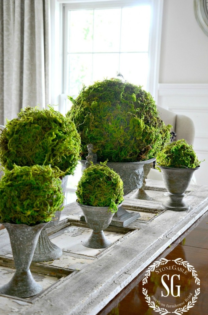 Moss Topiary Balls Diy Salvaged Living