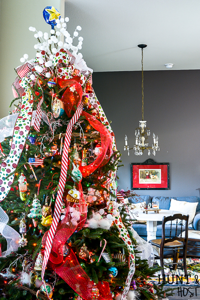 Christmas Bow Tree Topper And Home Tour Salvaged Living