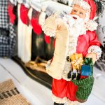 It's Christmas time in the dollhouse. Come see a dollhouse Santa, DIY stockings and miniature gingerbread. All the mini details of this holiday dollhouse are precious!