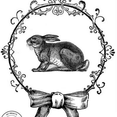 Free Vintage Easter Bunny Print