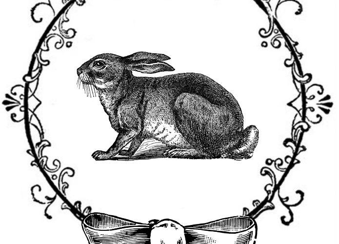 Vintage Easter Rabbit Free printable