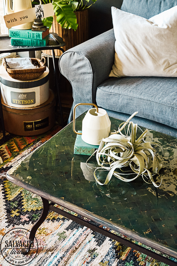 Boho Coffee Table For The Living Room Salvaged Living