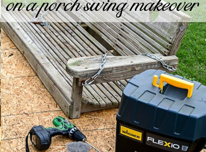 Watch this family heirloom porch swing get a makeover using a paint sprayer. I have some tips for using a paint sprayer that will help you paint your outdoor furniture like a pro! #paintsprayer #goodtips #outdoordecor #paintedfurniture #furniturepainting #porchswing #paintedporchswing #paintliekapro