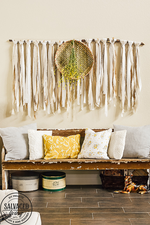 A few simple spring decorating ideas for the home. Light, bright, yellow and gold with pops of fresh greenery help me get my house feeling spring fresh. #springdecorating #springideas #springlivingroom