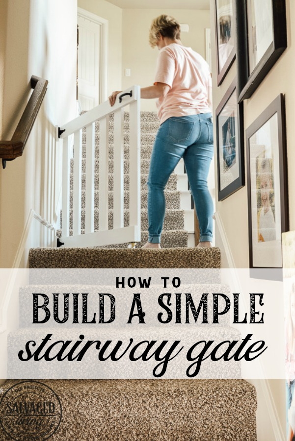 How To Build A Stylish Stairway Gate Keep Pets Or Kids Out This Easy