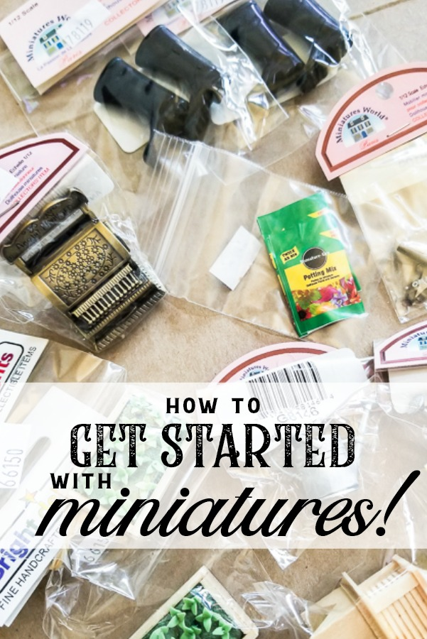 Want to get started with miniatures, but don't know where to start? This fun idea will help you get startedin the exciting craft of miniatures by getting your feet wet with an easy project! #miniatures #dollhouse #DIYdollhouse #DIYminaturecraft