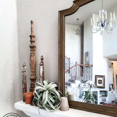 Quick Garden Mantel For Any Budget
